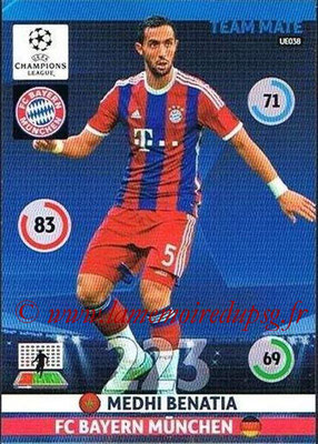 2014-15 - Adrenalyn XL champions League Update edition N° UE038 - Medhi BENATIA (Bayern Munich)