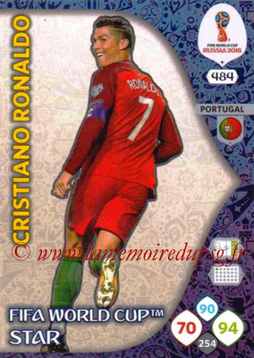 2018 - Panini FIFA World Cup Russia Adrenalyn XL - N° 484 - Cristiano RONALDO (Portugal) (FIFA World Cup Star) (Nordic Edition)