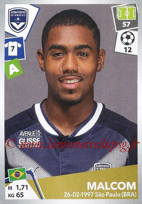 2017-18 - Panini Ligue 1 Stickers - N° 071 - MALCOM (Bordeaux)
