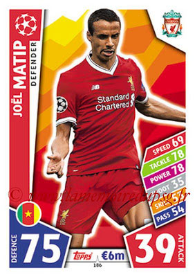 2017-18 - Topps UEFA Champions League Match Attax - N° 186 - Joël MATIP (Liverpool FC)