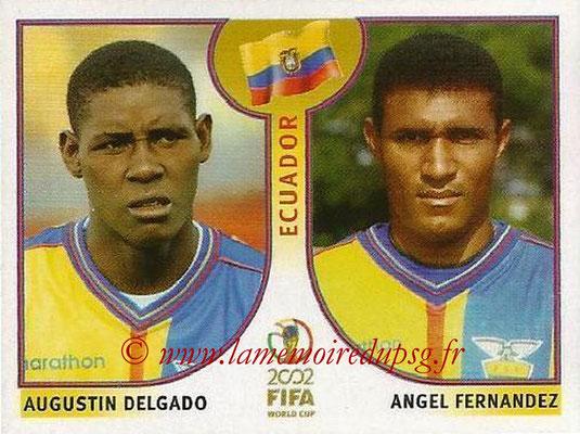 2002 - Panini FIFA World Cup Stickers - N° 520 - Augustin DELGADO + Angel FERNANDEZ (Equateur)
