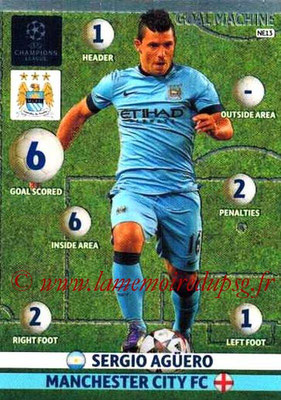 2014-15 - Adrenalyn XL champions League N° NE13 - Sergio AGUERO (Manchester City ) (Goal machine)