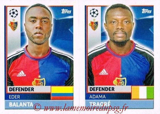 2016-17 - Topps UEFA Champions League Stickers - N° BAS 6-7 - Adama TRAORE + Eder BALANTA (FC Basel 1893)