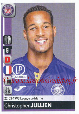 2018-19 - Panini Ligue 1 Stickers - N° 480 - Christopher JULLIEN (Toulouse)