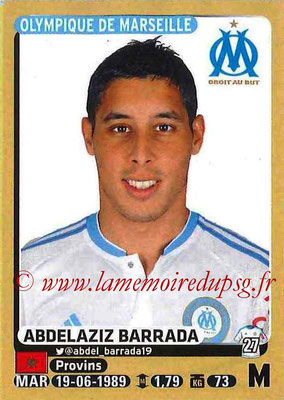 2015-16 - Panini Ligue 1 Stickers - N° 230 - Abdelaziz BARRADA (Olympique de Marseille)