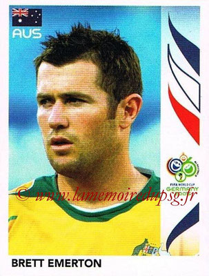 2006 - Panini FIFA World Cup Germany Stickers - N° 425 - Brett EMERTON (Australie)