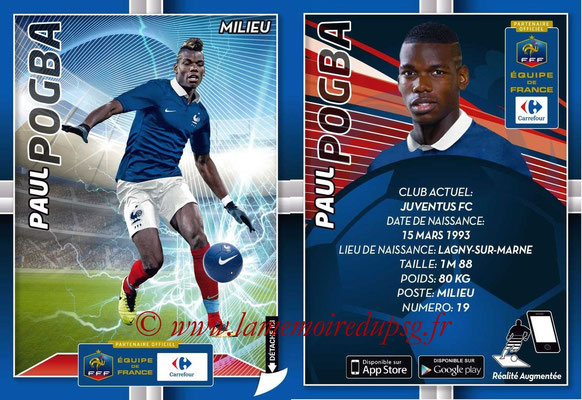 WC 2014 Collection Carrefour 3D Bleus - N° 15 - Paul POGBA (Juventus FC)