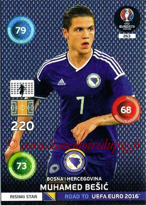 Panini Road to Euro 2016 Cards - N° 263 - Muhamed BESIC (Bosnie Herzégovine) (Rising Star)