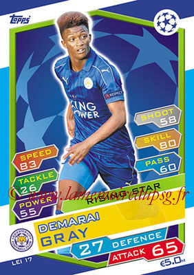 2016-17 - Topps UEFA Champions League Match Attax - N° LEI17 - Demarai GRAY (Leicester City FC) (Rising Star)