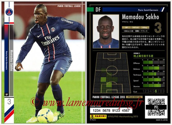 Panini Football League 2013 - PFL04 - N° 065 - Mamadou SAKHO (Paris Saint-Germain)