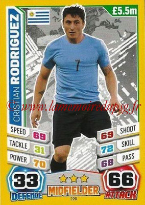 Topps Match Attax England 2014 - N° 229 - Cristian RODRIGUEZ (Uruguay)