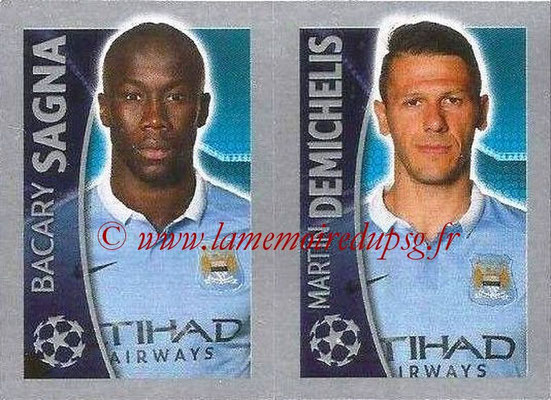 2015-16 - Topps UEFA Champions League Stickers - N° 261 - Bacary SAGNA + Martin DEMICHELIS (Manchester City FC)