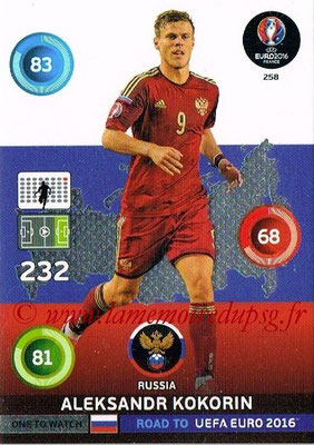 Panini Road to Euro 2016 Cards - N° 258 - Aleksandr KOKORIN (Russie) (One to Watch)