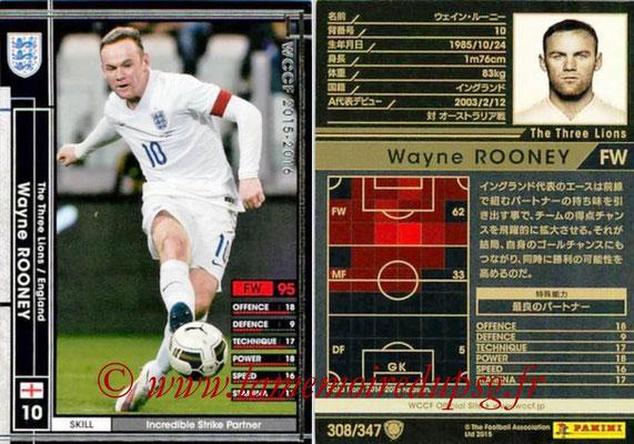 2015-16 - Panini WCCF - N° 308 - Wayne ROONEY (Angleterre)