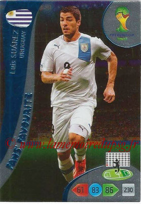 2014 - Panini FIFA World Cup Brazil Adrenalyn XL - N° 350 - Luis SUAREZ (Uruguay) (Fan's favorite)