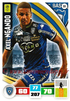 2016-17 - Panini Adrenalyn XL Ligue 1 - N° 033 - Axel NGANDO (Bastia)