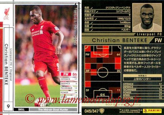 2015-16 - Panini WCCF - N° 045 - Christian  BENTEKE (Liverpool FC)