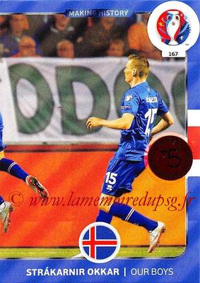 Panini Euro 2016 Cards - N° 167 - Making History d' Islande