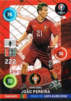 Panini Road to Euro 2016 Cards - N° 156 - Joao PEREIRA (Portugal)