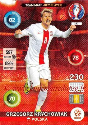 Panini Euro 2016 Cards - N° 253 - Grzegorz KRYCHOWIAK (Pologne) (Key Player)