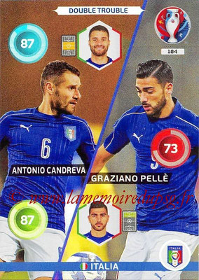 Panini Euro 2016 Cards - N° 184 - Antonio CANDREVA + Graziano PELLE (Italie) (Double Trouble)