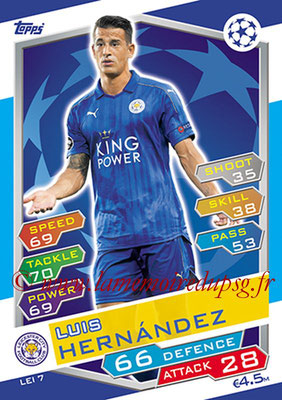 2016-17 - Topps UEFA Champions League Match Attax - N° LEI7 - Luis HERNANDEZ (Leicester City FC)