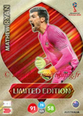 2018 - Panini FIFA World Cup Russia Adrenalyn XL - N° LE-MR - Mathew RYAN (Australie) (Limited Edition)