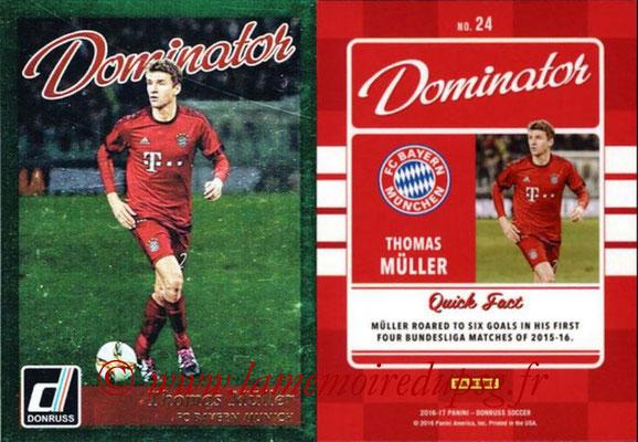 2016 - Panini Donruss Cards - N° D24 - Thomas MULLER (FC Bayern Munich) (Dominator)