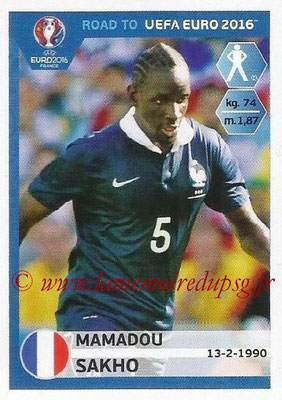 Panini Road to Euro 2016 Stickers - N° 099 - Mamadou SAKHO (France)