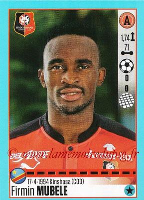 2016-17 - Panini Ligue 1 Stickers - N° T46 - Firmin MUBELE (Rennes) (Set Transfert)