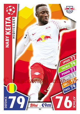 2017-18 - Topps UEFA Champions League Match Attax - N° 082 - Naby KEITA (RB Leipzig)