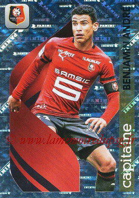 2018-19 - Panini Ligue 1 Stickers - N° 422 - Benjamin ANDRE (Rennes) (Capitaine)