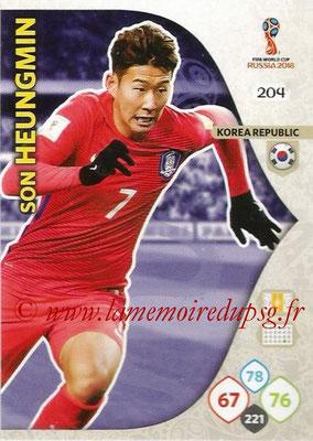 2018 - Panini FIFA World Cup Russia Adrenalyn XL - N° 204 - Son HEUNG-MIN (Corée du Sud)