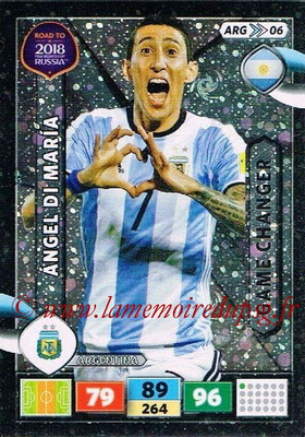 2018 - Panini Road to FIFA World Cup Russia Adrenalyn XL - N° ARG06 - Angel DI MARIA (Argentine) (Game Changer)
