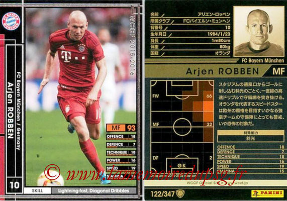 2015-16 - Panini WCCF - N° 122 - Arjen ROBBEN (FC Bayern Munich)