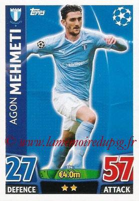 2015-16 - Topps UEFA Champions League Match Attax - N° 374 - Agon MEHMETI (Malmö FF)