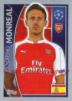 2015-16 - Topps UEFA Champions League Stickers - N° 395 - Nacho MONREAL (Arsenal FC)