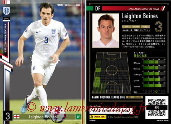 Panini Football League 2015 - PFL11 - N° 082 - Leighton BAINES (Angleterre)