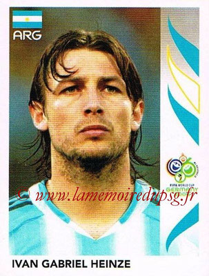 2006 - Panini FIFA World Cup Germany Stickers - N° 174 - Ivan Gabriel HEINZE (Argentine)