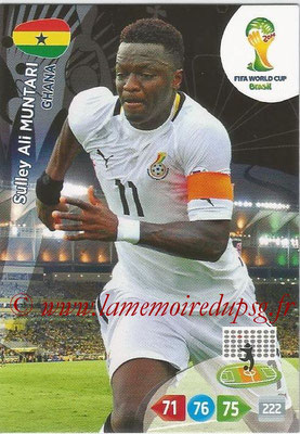 2014 - Panini FIFA World Cup Brazil Adrenalyn XL - N° 173 - Sulley ALI MUNTARI (Ghana)