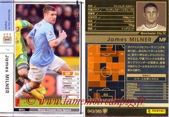 2013-14 - WCCF - N° 043 - James MILNER (Manchester City FC)