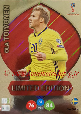 2018 - Panini FIFA World Cup Russia Adrenalyn XL - N° LE-OT - Ola TOIVONEN (Suede) (Limited Edition)