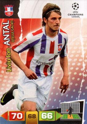 2011-12 - Panini Champions League Cards - N° 209 - Liviu Ion ANTAL (FC Otelul Galati)