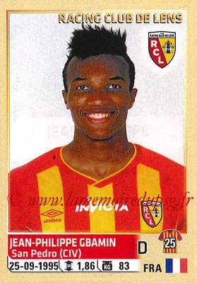 2014-15 - Panini Ligue 1 Stickers - N° 130 - Jean-Philippe GBAMIN (RC Lens)