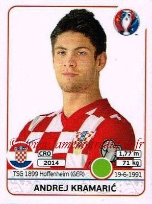 Panini Euro 2016 Stickers - N° 454 - Andrej KRAMARIC (Croatie)