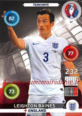 Panini Euro 2016 Cards - N° 087 - Leighton BAINES (Angleterre)