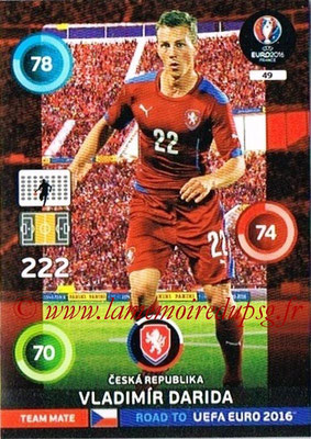 Panini Road to Euro 2016 Cards - N° 049 - Vladimir DARIDA (République Tchèque)