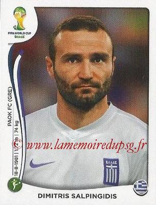 2014 - Panini FIFA World Cup Brazil Stickers - N° 219 - Dimitris SALPINGIDIS (Grèce)