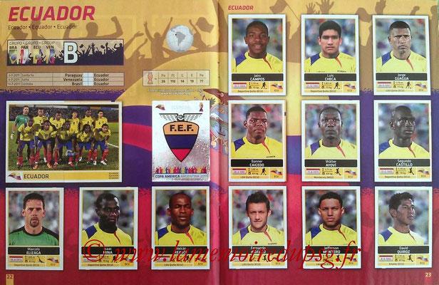 Panini Copa América Argentina 2011 - Pages 22 et 23 - Equateur