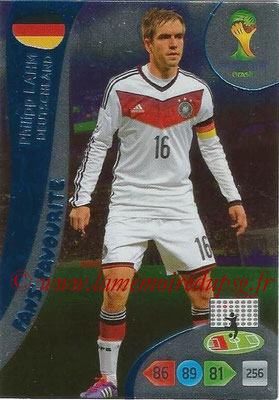 2014 - Panini FIFA World Cup Brazil Adrenalyn XL - N° 334 - Philipp LAHM (Allemagne) (Fan's favorite)